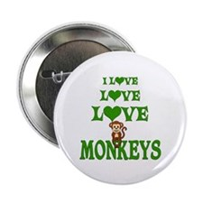 "Love Love Monkeys 2.25"" Button (10 pack)"