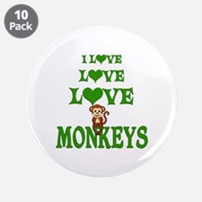 "Love Love Monkeys 3.5"" Button (10 pack)"