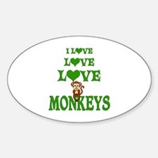 Love Love Monkeys Decal