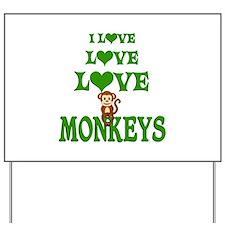 Love Love Monkeys Yard Sign
