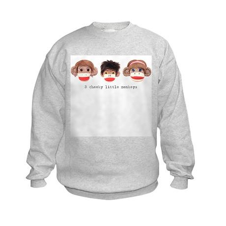 Sock Monkey Trio Kids Sweatshirt