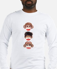 Sock Monkey Trio Long Sleeve T-Shirt