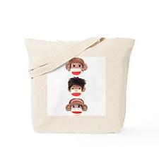 Sock Monkey Trio Tote Bag