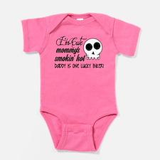 Smokin' Hot Mommy, Lucky Biker Daddy Baby Bodysuit