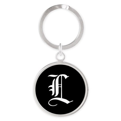 Gothic Initial L Keychains