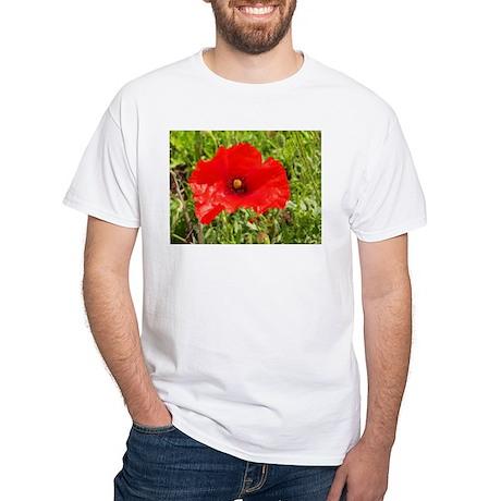 Red Poppy Flower Style 2 T-Shirt