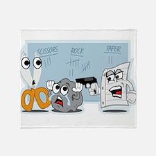Rock Paper Scissors Throw Blanket