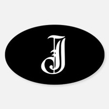 Gothic Initial J Decal