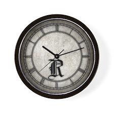Gothic Initial R Wall Clock