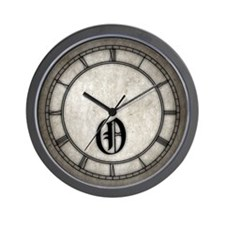Gothic Initial O Wall Clock