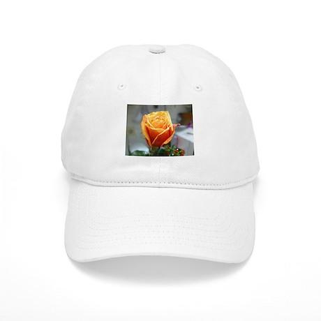 Yellow Orange Rose Baseball Cap