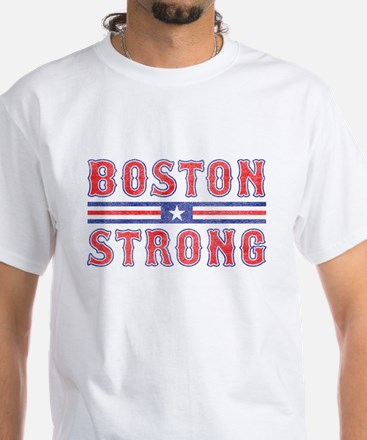 Boston Strong rugged White T-Shirt