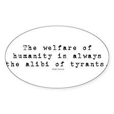 welfare tyrants bumper Decal
