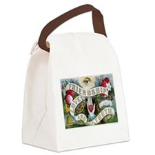Friendship - Love-and-Truth Ribbon Canvas Lunch Ba