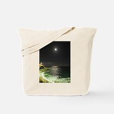 Super Moon Beach Tote Bag