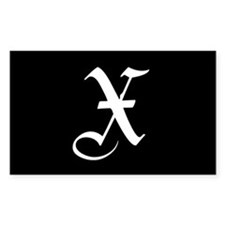 Gothic Initial X Decal