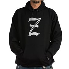Gothic Initial Z Hoodie