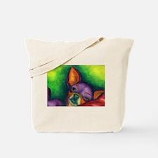 Lazy Chihuahua Tote Bag