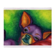 Lazy Chihuahua Throw Blanket