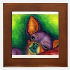 Lazy Chihuahua Framed Tile