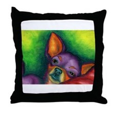 Lazy Chihuahua Throw Pillow