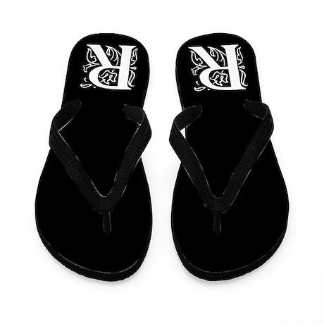 Ornate Gothic Initial R Flip Flops