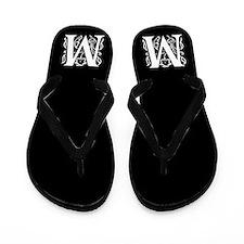 Ornate Gothic Initial M Flip Flops