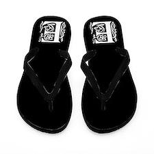 Ornate Gothic Initial E Flip Flops