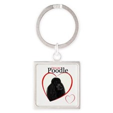 Poodle Love Keychains