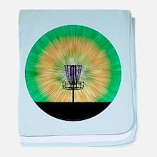Tie Dye Disc Golf Basket baby blanket