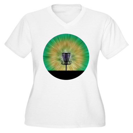 Tie Dye Disc Golf Basket Plus Size T-Shirt