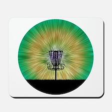 Tie Dye Disc Golf Basket Mousepad