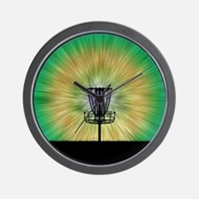 Tie Dye Disc Golf Basket Wall Clock