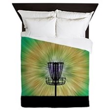 Tie Dye Disc Golf Basket Queen Duvet