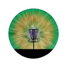 "Tie Dye Disc Golf Basket 3.5"" Button"