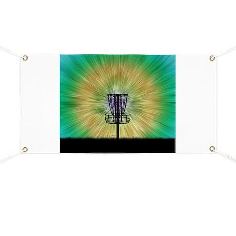 Tie Dye Disc Golf Basket Banner