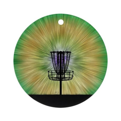 Tie Dye Disc Golf Basket Ornament (Round)