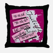 Twilight Movie Dates Throw Pillow