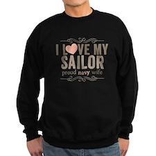 I Love my Sailor Proud Navy Wife Sweatshirt