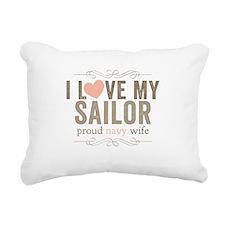 I Love my Sailor Proud Navy Wife Rectangular Canva