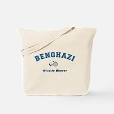 Benghazi Whistle Blower Blue Tote Bag