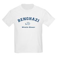 Benghazi Whistle Blower Blue T-Shirt