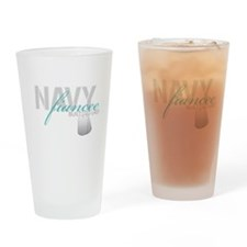 Navy Fiancee Built to Last Drinking Glass