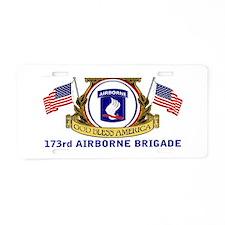 173rd AIRBORNE BRIGADE Aluminum License Plate