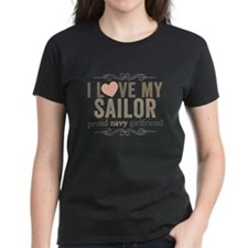 I Love my Sailor Proud Navy Girlfriend Tee