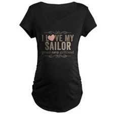 I Love my Sailor Proud Navy Girlfriend T-Shirt
