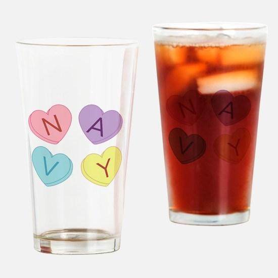 Navy Sweettarts Drinking Glass