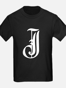 Gothic Initial J T-Shirt