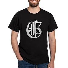 Gothic Initial G T-Shirt