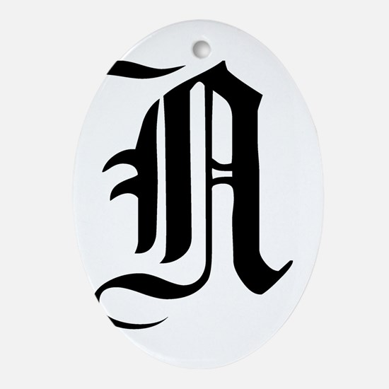 Gothic Initial N Ornament (Oval)